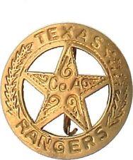 Shérif Laiton Étoile Texas Rangers de Western Cowboy US USA Épinglette