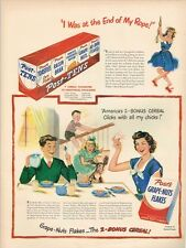 Cereal Post Tens Grape Nuts End of my Rope 1949 paper ad 10¼ x 14 inch T-Trove