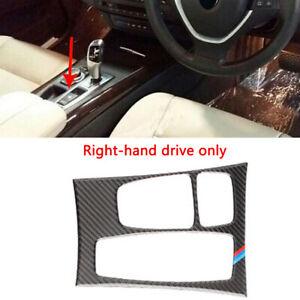 RHD Carbon Fiber Console Gear Box Panel Cover Trim For BMW X5 X6 E70 E71 10-2013