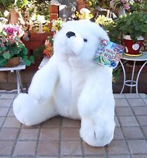 "New Small of The Wild White Plush Polar Bear 10"" tall x 10"" wide Super Cute!"
