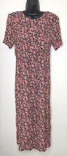 K STUDIO Vintage Floral Dress 10 Womens Pink Tiny Print Long Modest