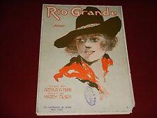 "1919 ""RIO GRANDE""  Vintage Sheet Music - Arthur A. Penn Harry Olsen"