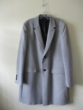 """BURTON COAT Crombie Style Dove Grey Wool Blend CHESTERFIELD  Sz L Ch 42-44"""" NEW"""