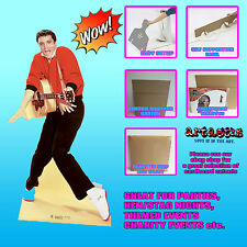 Elvis Presley chaqueta roja y Guitarra Lifesize cartón recorte pie levantado