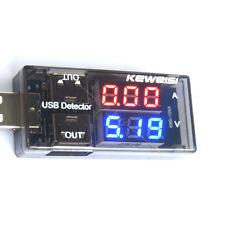 USB Charger Batterie Current Voltage Tester Digital LED Volt meter Amperemeter