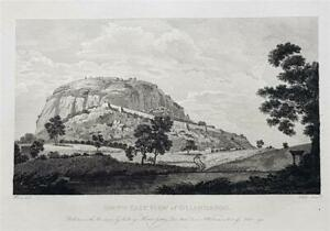 S.E. VIEW OF OLIAHDROOG, MYSORE, INDIA by Robert Home, Rare Orig. 1794 Engraving