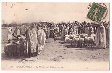CPA ALGERIE - ORLEANSVILLE - CHLEF - LE MARCHE AUX BESTIAUX - 1917