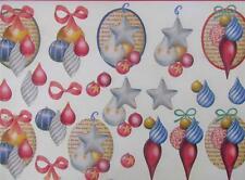 A4 3D Paper Tole Christmas Decorations Baubles 3 Pictures NEW