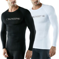 Men Rash Guard Long Sleeve Swimming Surfing Swim Shirts Gym SPF Sun Protection O