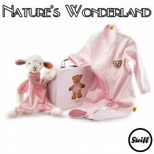 STEIFF Original PINK Sweet Dreams LAMB - Gift Set COMFORTER & ROMPER - BABYWORLD