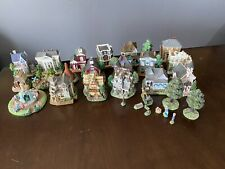 30 Piece Vintage Lot International Resources Handcrafted Village Houses