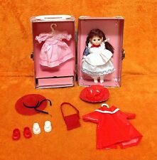 Vintage Pink Doll Trunk/Case With Doll And Clothes