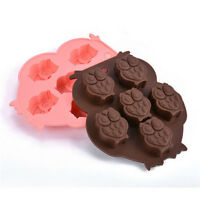 1Pc New Little Owl Cake Mold Flexible Silicone Candy Chocolate Ice Cube Mould