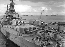 7061 USS Iowa Dec 1944  US Navy WWII WW2 B&W Photo World War Two