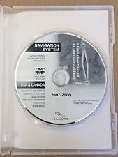 2007 2008 JAGUAR XF XK XKR NAVIGATION SYSTEM DISC DVD US & CANADA