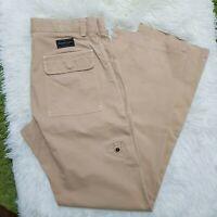 MARLBORO CLASSICS Mens Chinos Trousers Pants Khaki Sand Beige Straight W32 L32