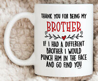 Brother Gifts Brother Mug Best Brother Gift Brother Birthday Gift Brother Coffee
