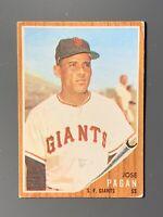 1962 Topps #565 Jose Pagan San Francisco Giants High Number VGEX