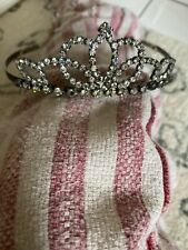Vintage Antique Wedding Tiara Crown Prong Set Rhinestone Shabby Chic Old