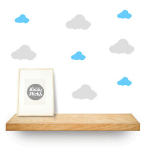Cloud Wall Stickers  2 Sizes  15 Colours Available UK seller - Free P&P
