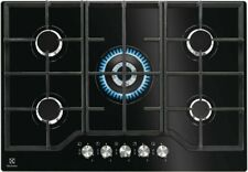 Electrolux KGG7536K - 75 cm Noir Verre Céramique Gaz Cuisine Plaque-avec brûleur pour wok