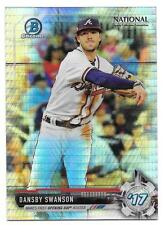 Dansby Swanson 2017 Bowman Chrome National Sports Collector Prizm Refractor NSCC