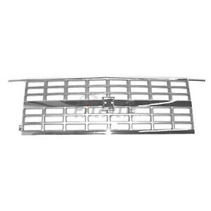 New Front Center Grille Chrome Silver Fits Chevrolet Blazer 1989-1991 GM1200169