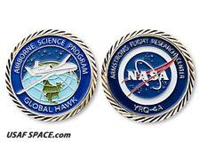"AIRBORNE SCIENCE - ARMSTRONG NASA - GLOBAL HAWK - ORIGINAL 1.75"" COIN-MEDALLION"