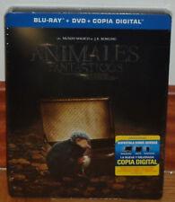 ANIMALES FANTASTICOS Y DONDE ENCONTRARLOS BLU-RAY+DVD STEELBOOK NUEVO (SIN ABRIR