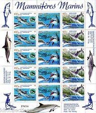 Nouvelle calédonie faune marine dauphins cétacés surchargés F 965/67 cote:270€