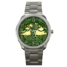 MYSTIC CELTIC TREE DESIGN STAINLESS STEEL SPORTS WATCH