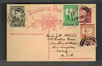 1943 Goa  Portugese India Postcard Cover to USA