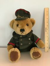 "Harrods doorman bear in green store uniform 11"" excellent condition"
