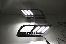 For VW Jetta MK7 2015-2016 2x LED Daytime Running Fog Light Lamp DRL w Signal