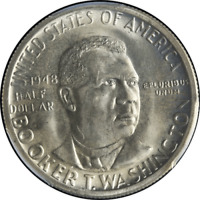 1948-P BTW Booker T Washington Half Dollar PCGS MS66 Blazing White Nice Strike