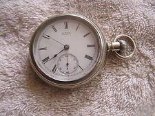 Antique A. W. Waltham Wm Ellery Pocket Watch Swing Out Movement Lever Set