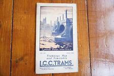 More details for nov 1932 lcc trams map & guide timetable underground tube and bus interest