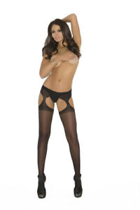 Sheer Suspener Pantyhose Crotchless Plus & Regular Size Adult Woman Clothing
