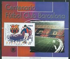 CHILE 1999 SPAIN BARCELONA FUTBOL CLUB  souvenir sheet MNH