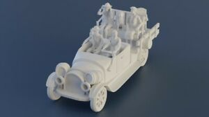 THE BEVERLY HILLBILLIES CAR and FIGURE SET 3D Printed Jed Elle Mae Jethro Granny