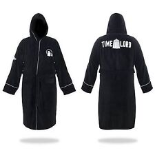 Doctor Who Time Lord Black Hooded Cotton Bath Robe NEW!