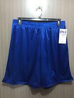 BNWT Mens 3XL/Ladies 24 LW Reid Royal Blue Elastic Waist Mesh Style Sport Shorts