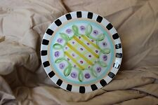 """Vicki Carroll Razzle Dazzle Snack Plate 7 3/4"""" - New, never been used!"""