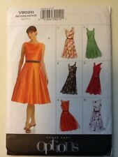 Vogue Pattern V8020 Misses/Petite Dress And Belt Size 6-8-10 Uncut