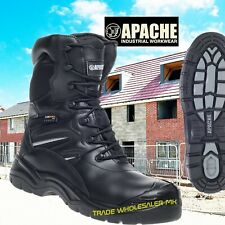 APACHE COMBAT MILITARY WATERPROOF SAFETY WORK BOOTS TACTICAL POLICE COMPOSITE