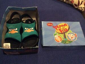 Disneys Phineas And Ferb Secret Agent Kids Sandals Size 13.5