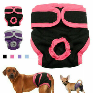 Female Pet Dog Physiological Pants Sanitary Nappy Diaper Shorts Underwear S-XL