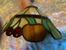 VINTAGE STAINED GLASS LEADED GLASS  LAMP LIGHT SHADE