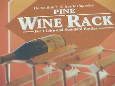 Solid Pine Wooden 12 Bottle Wine Rack Kit