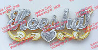 PERSONALIZED  3D DOUBLE SCRIPT NAME PLATE NECKLACE * ANY NAME* US SELLER